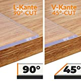 ANRO Tischfolie durchsichtig abwaschbar 2mm Transparent Tischdecke Weich PVC Folie abgeschrägte Kante V 45° 90x180cm Viele Größen (1000) - 6