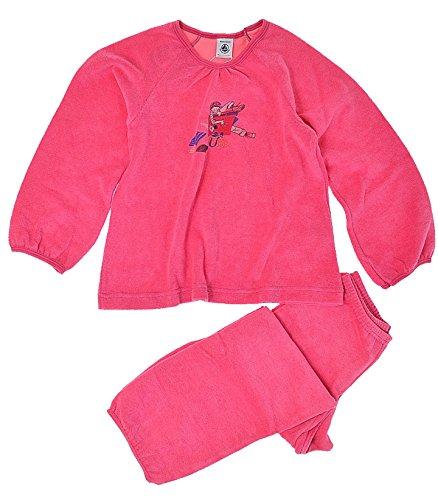 Petit Bateau Pyjama–Mädchen, Rose, 8 Jahre