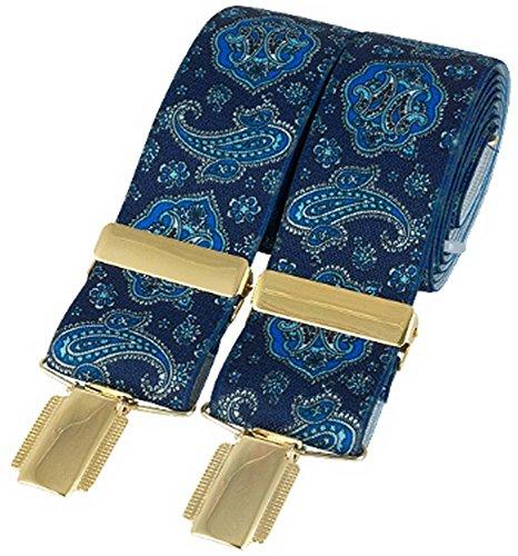 David Van Hagen Classic Blue Paisley Mode Brace de