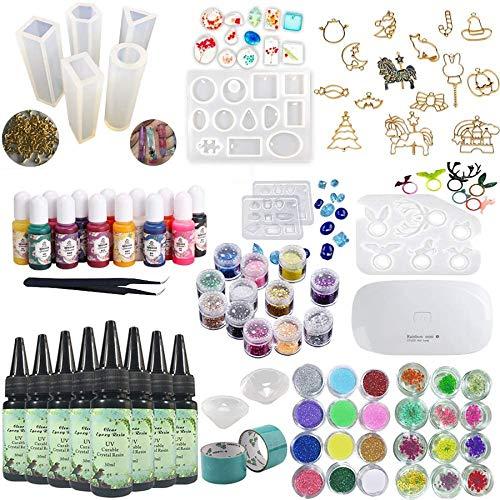 8 piezas 30 ml de resina epoxi de cristal adhesivo UV, 1...