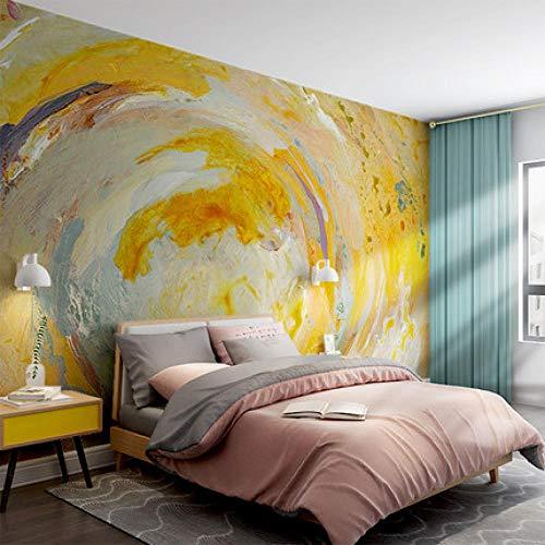 Pintado A Mano Arte Abstracto Flores Sala De Estar Tv Fondo Papel Tapiz Nostálgico Retro Papel Tapiz Mural Revestimiento De Paredes No Tejido