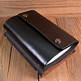 A6 Lose-Blatt-Notebook/Dual-Taste Notepad/retro klassische Notebook, auswechselbare Innenkern Zeitschriften gebunden in den Female Male Geschenke geschrieben,A -
