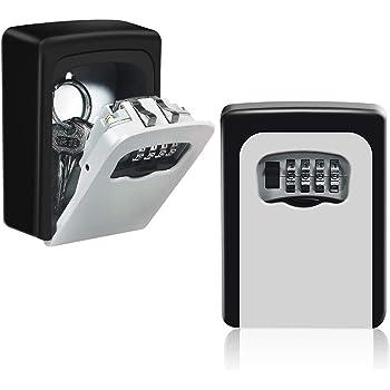 HUSAN Caja de cerradura de llave almacenamiento segura de llave exterior montada en la pared para llaves de casa de repuesto de garaje para el hogar (Gris): Amazon.es: Industria, empresas y ciencia