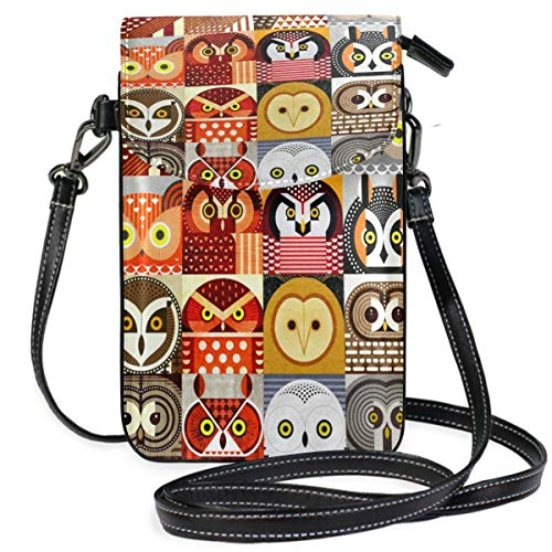 XCNGG Owl Cell Phone Purse Wallet for Women Girl Small Crossbody Purse Bags