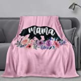 MADISON GRIFFITHS Mama Bear Floral Watercolor Flowers Ultra-Soft Fleece Bed Blanket - Warm Bed Throws - for Home (60'x50')