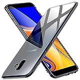 Peakally Funda Samsung Galaxy J6 Plus, Transparente Silicona Funda para Samsung Galaxy J6+ Carcasa...