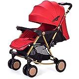 Cochecito de bebé Luz ultra portátil cochecito de bebé fácil de plegar la Cesta carro de bebé del cochecito de niño del bebé puede sentarse puede mentir carrito silleta sillas de paseo ( Color : D )