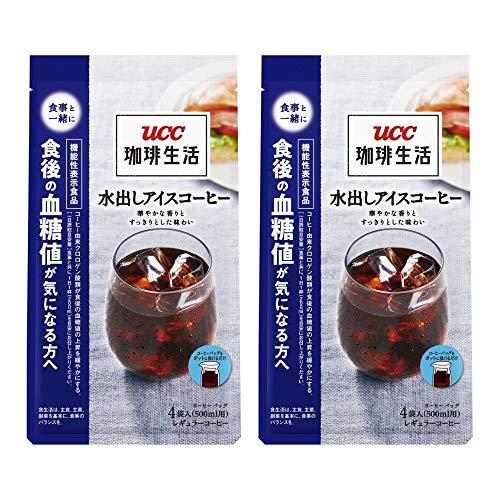 UCC 珈琲生活 コーヒーバッグ 水出しアイスコーヒー 4袋 140g ×2個 レギュラー(水出し)