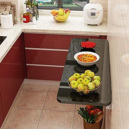 DZCGTP Mesa de Hojas abatibles montada en la Pared, Mesa de Comedor Plegable, Escritorio de computadora, Mesa de Estudio, Mesa Plegable de Cocina para Espacios pequeños, 3 Colores