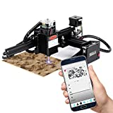 20W Máquina de grabado láser, Grabador CNC para principiantes con área de trabajo de 14 * 13 cm Grabador súper fácil de instalar y operar para tallar y cortar madera y plástico (20W)