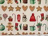 ab 1m: Weihnachtsstoff, Plätzchen + Weihnachtsmotive,