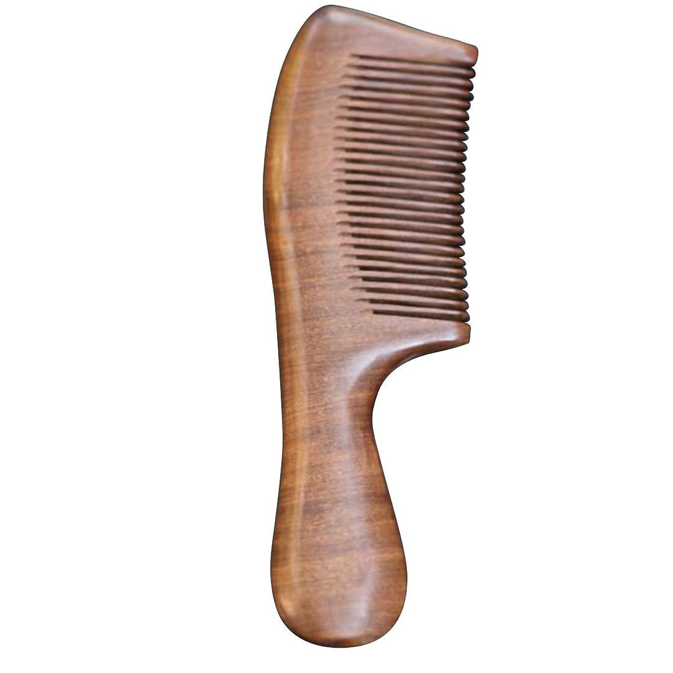 アダルト寛解擬人化Guomao ファミリーのヘアコーム-静電気防止木材と手つかずの手作りブラシ (色 : ゴールド)