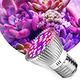 Outgeek Grow Lamp Bulb Plant Light Bulb E27 Multipurpose 220V 28-LED Plant Lamp