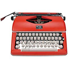 Royal Classic portable manual typewriter includes manual Sturdy retro metal housing for durability Pre-installed black/red ribbon, and paper support bar Full size keyboard, 44 keys, 88 symbols and Pica 87 font Spacebar repeat key, variable line spaci...