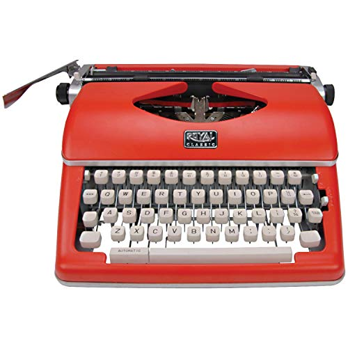 powerful Royal 79120q Classic (red) handwritten typewriter