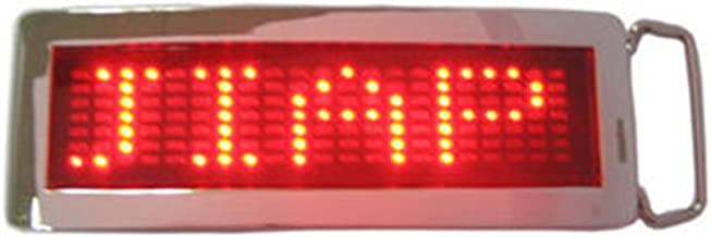 xiangshang shangmao Red DIY Text Name Flash Chrome LED Scroling Belt Buckle Party