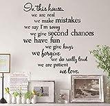 Adesivi Murali Fai-Da-Te In Questa Casa Altalena Rimovibile Arte Vinile Murale Poster Carta Da Parati Home Room Decor Adesivi Murali In Pvc 60X29Cm