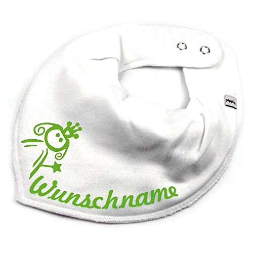 Elefantasie Elefantasie HALSTUCH PRINZESSIN mit Namen oder Text personalisiert weiß für Baby oder Kind
