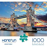 Puzzles 1000 Pieces for Adults, HMFUNTM Jigsaw Puzzles for Adults Kids Large Puzzle Game Toys Gift, London Tower Bridge Puzzles 27.5' x 19.6'/70cm x 50cm