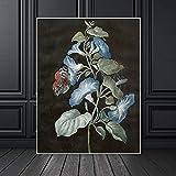 Geiqianjiumai Lienzo Arte de la Pared Sala de Estar Planta decoración de la Pared Pintura Lienzo Arte Lienzo Arte de la Pared Flor Pintura sin Marco 60x90cm