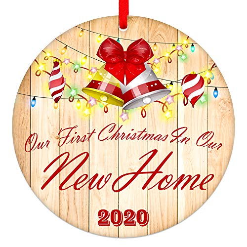 SICOHOME Our First Christmas in Our New Home Ornament 2020,3' Christmas Tree Ornament Decoration,Housewarming Gift