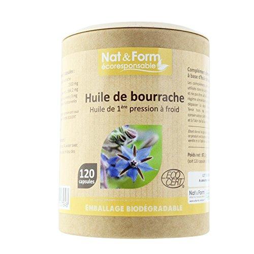 Nat & Form - NAT&FORM HUILE DE BOURRACHE 120 CAPSULES