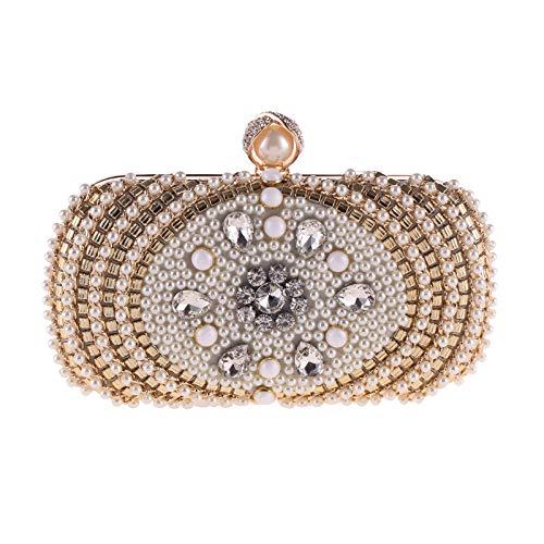 KFRSQ schoudertas dames handtas horloge handtas tassen Pearl avondtas vrouwen clutch Bag mode kleine vierkante tas schouder diagonaal
