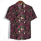 SCLDX Camisa Hawaiana para Hombre - Camisa De Playa De Verano Funky Casual Camisa De Manga Corta con Botones Blusas De Cuello Vuelto con Estampado Abstracto Blusas para Fiestas De Vacaciones Ropa,