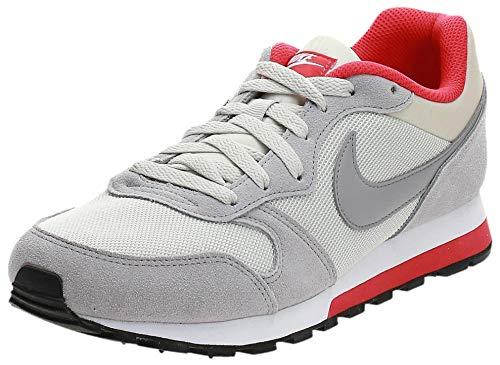 Nike MD Runner 2, Zapatillas de Running Hombre, Beige (light bone/matte silver-action red-white), 39