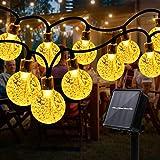 Innoo Tech 50 LEDs Solar Lichterketten für Außen&Innen, 7.5M LED Lichterkette,Wasserdicht IP44, 8 Leuchtmodi,Umgebungslicht für Dekor Gärten,Balkonen,Innenhöfen,Zelten und Hochzeiten,Partys,Festen
