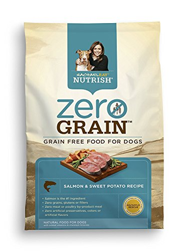 Rachael Ray Nutrish Zero Grain Natural Dry Dog Food, Grain Free Salmon & Sweet Potato Recipe, 12 Lbs