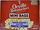 Orville Redenbachers Gourmet Popcorn Movie Theater Butter 12 Count. Mini Single