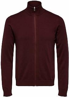 Selected Men's Slhberg Full Zip Cardigan B Noos Sweatshirt