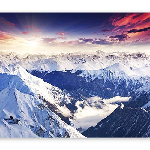 murando Papier peint intissé 250x175 cm Décoration Murale XXL Poster Tableaux Muraux Tapisserie Photo Trompe l'oeil Alpes Montagne Nature Paysage c-B-0072-a-a