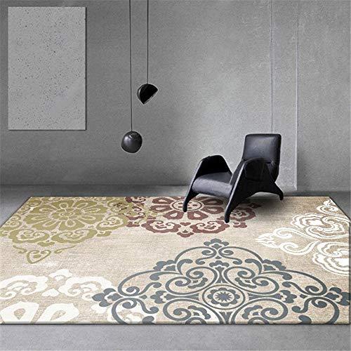 RUGMYW Facile da Mantenere tappeti Neonati Gattonamento Il Classico Motivo di Stampa Beige sarà Giallo, Rosso e Bianco tappeti corridoio 160X230cm