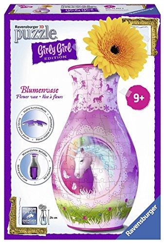 Ravensburger 12051 - 3D Puzzle Girly Girl Edition Blumenvase Einhörner