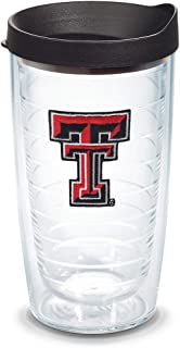 Tervis Texas Tech Red Raiders Logo Tumbler with Emblem and Black Lid 16oz, Clear