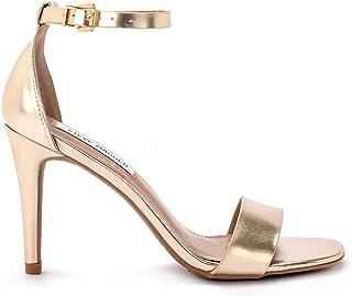 094425d4aa Steve Madden Sandalo Pelle Metallizzata con Fascia e Laccio alla Caviglia e  Tacco 9,5cm