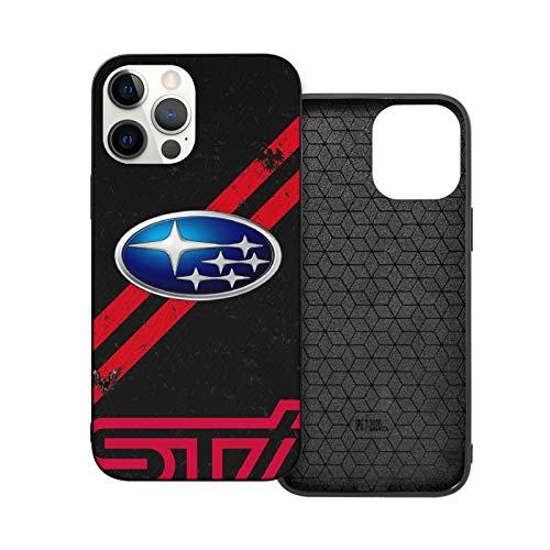 Compatibile con iPhone 12/11 PRO Max 12 Mini SE X/XS Max XR 8 7 6 6s Plus Custodie Subaru STI Model Car Lover Nero Custodie per Telefoni Cover