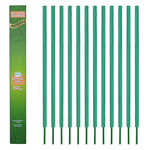 All Natural Premium Citronella Outdoor Garden Incense Sticks with 2.5 Hour Burn Time. – Bamboo Infused with Citronella, Lemongrass and Rosemary.