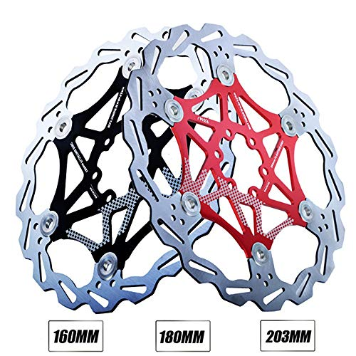 Rotor de freno de bicicleta Rotor de freno de disco de aleación de aluminio de 6 pernos para la mayoría de las bicicletas de carretera Bicicleta de montaña BMX Disco flotante flotante de BMB Disco de