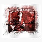 Johnson Blues Guitar Robert Metal Heavy Affiche d'impression d'art de Mur de décor à la Maison !