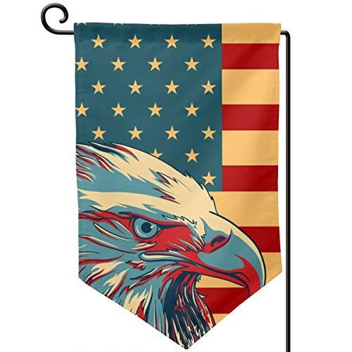 IDNUYIA Garden Flag Vertical, Seasonal Spring Holiday Outdoor Decoration 12.5 X 18 Inch American Patriotic Eagle Flag 1