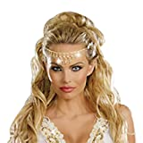 Dreamgirl Women's Glittering Rhinestone Headpiece, Gold, One Size