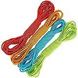 com-four® 4X Gummitwist Band para niños - Saltar la Cuerda Hecha de Goma - Saltar la Goma [Color varía] (10 Metros - 04 Piezas Coloridas)