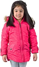 BURDY Girl's Full Sleeve Solid Jacket - Pink, L