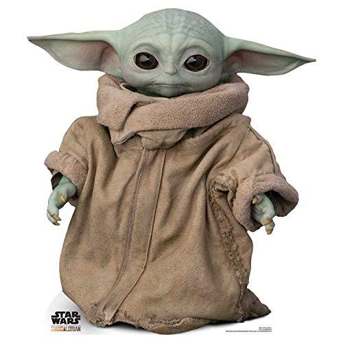 Star Cutouts Ltd SC1515 Force-Sensitive Foundling Child Baby Yoda Star Wars The Mandalorian, mehrfarbig