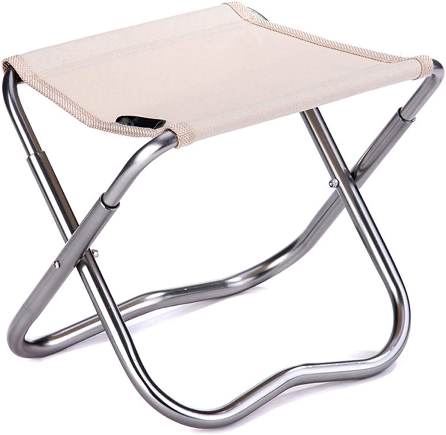 Portable Folding Camping Stool, Ultralight Compact Hiking Stool Chair, Great for Travel,Beach,Hiking,Fishing, with Carry Bag,Beige