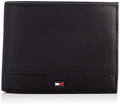 Tommy Hilfiger - Th Essential Cc Flap And Coin, Carteras Hombre, Negro (Black), 1x1x1 cm (W x H L)
