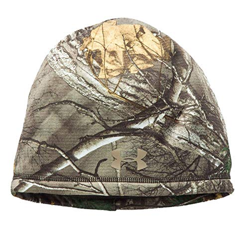 Under Armour Women's Scent Control Storm Fleece Beanie, Realtree Ap-Xtra (946)/Metallic Beige, One Size Fits All